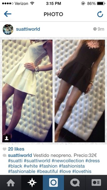 dress black white tight