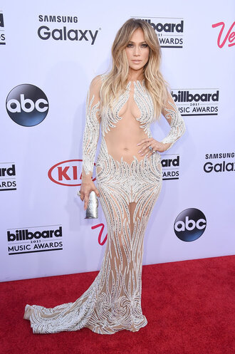dress gown billboard music awards sheer jennifer lopez sparkle