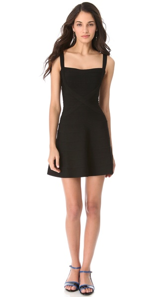 Herve Leger Crisscross A Line Dress | SHOPBOP