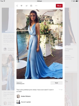 dress light blue long formal dresss