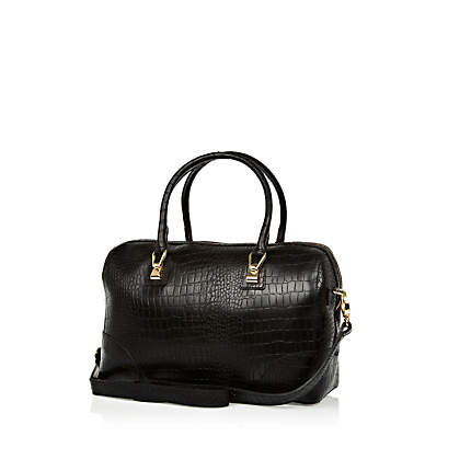 leather croc bowler bag - shoulder bags - bags / purses - women