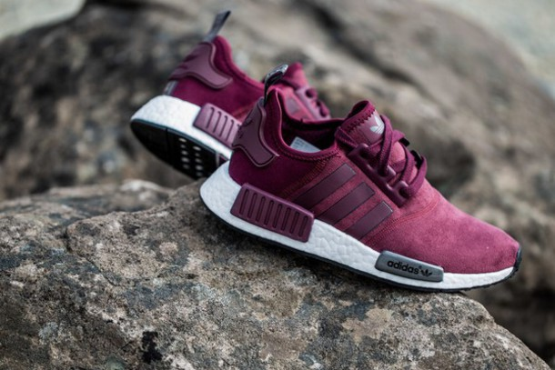 shoes burgundy adidas adidas shoes adidas originals white nmds maroon low  top sneakers maroon adidas adidas
