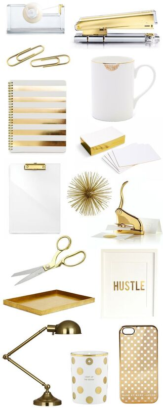 home accessory pinterest gold notebook lamp candle desk office supplies home furniture stationary metallic home decor metallic lamp white and gold mug