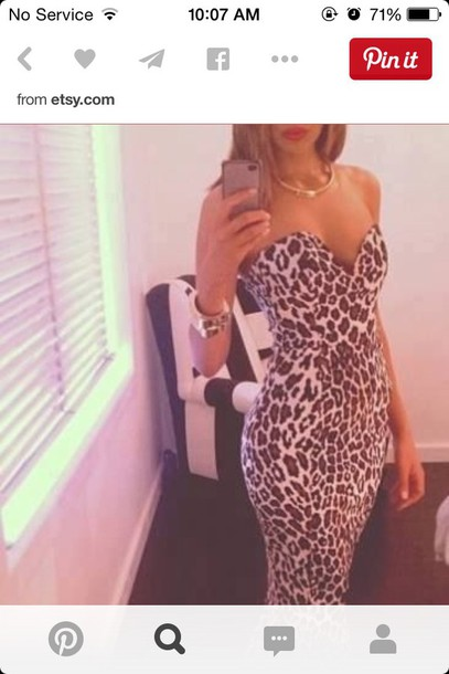dress leopard print dress prom dress