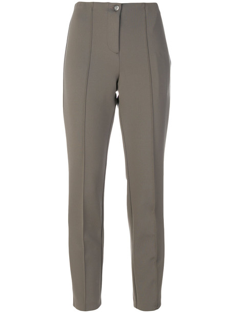 high waisted cropped high women spandex grey pants