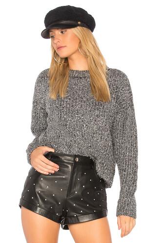 sweater metallic silver