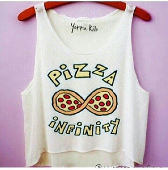 infinity t-shirt pizza