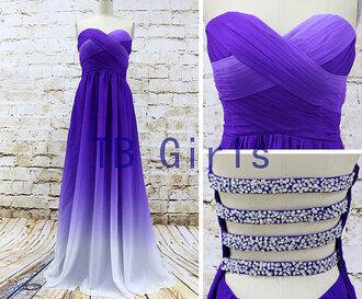 dress prom dress purple prom dress sexy prom dress bridesmaid girls dress