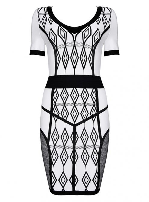 Black Ivory Dion Printed Dress H801$129