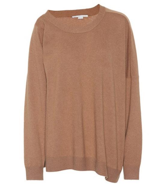 Stella McCartney Wool and alpaca sweater in brown