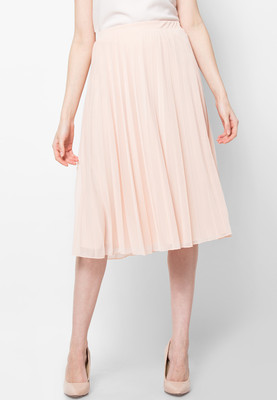 dorothy perkins blush pleated midi skirt buy
