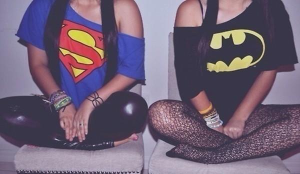 t-shirt superman pants shirt batman
