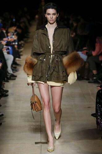 jacket purse fashion week 2016 paris fashion week 2016 kendall jenner miu miu fur model runway