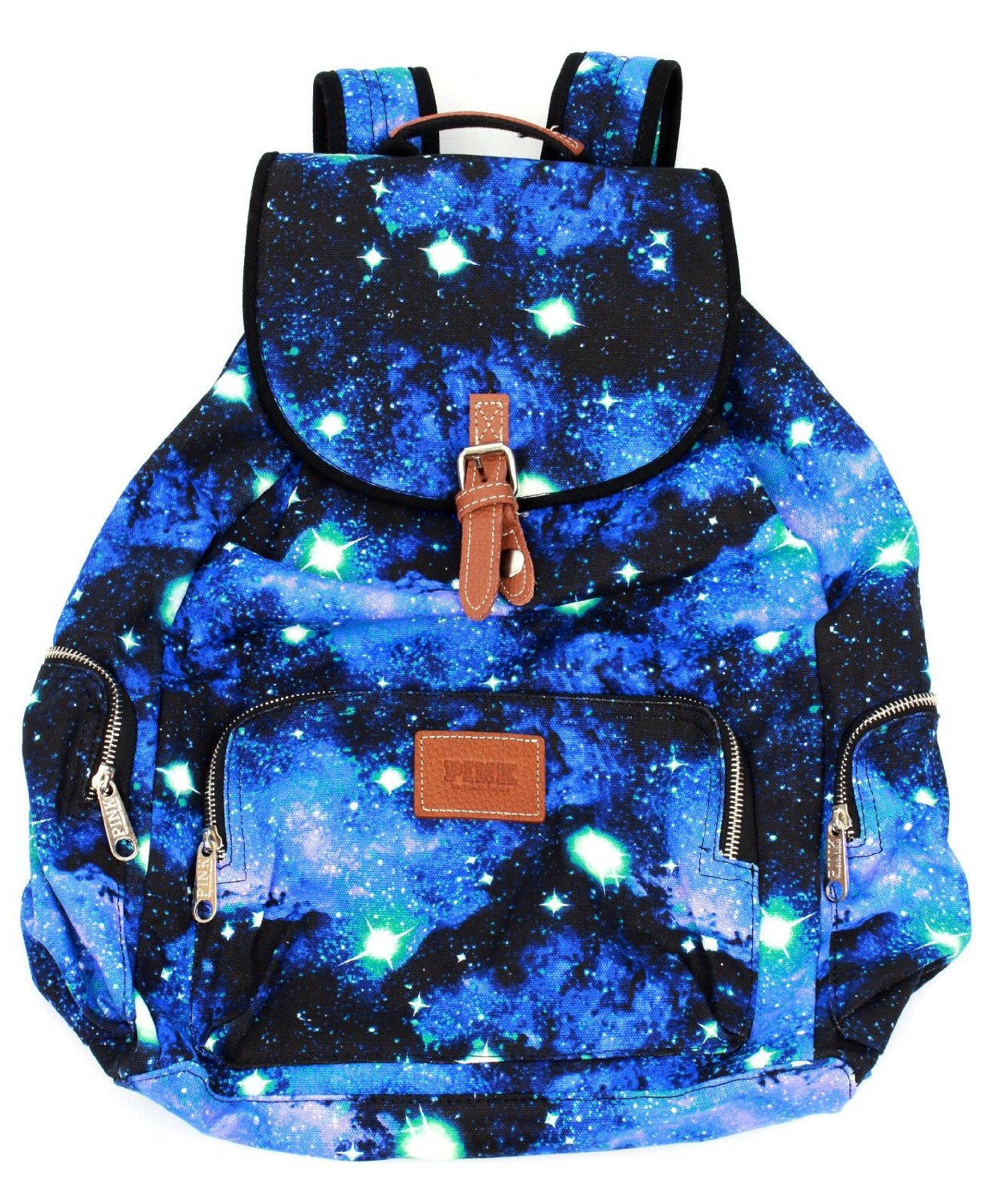 Amazon.com: Victoria's Secret PINK School Handbag Backpack Book Bag Tote - Celestial Blue Galaxy: Everything Else
