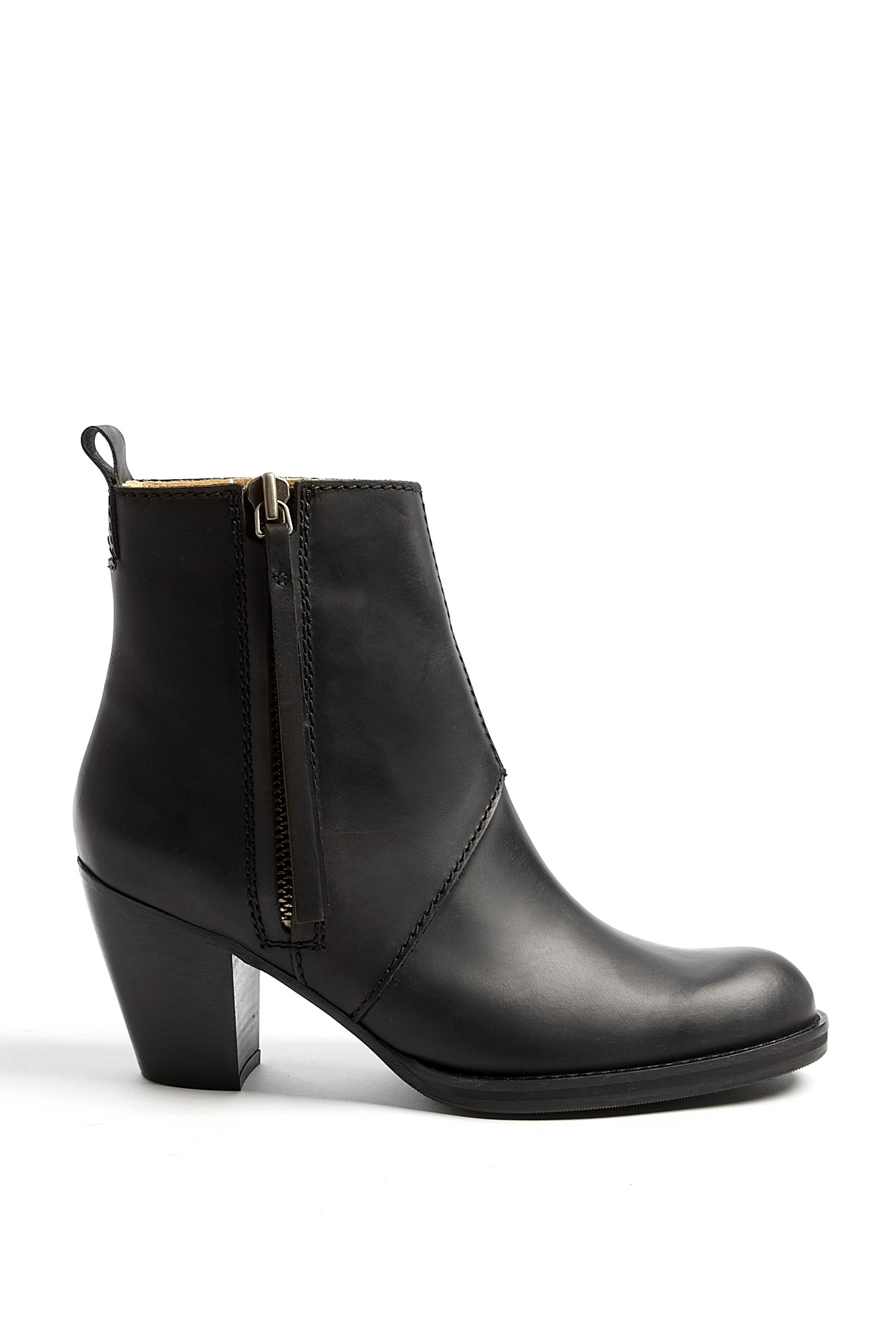 acne black pistol ankle boot by acne. Black Bedroom Furniture Sets. Home Design Ideas