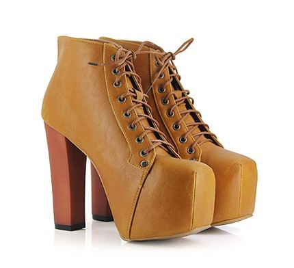 Free shipping fashion women ladies 4 color lita platforms high heels lace up boots ankle shoes size 35 40