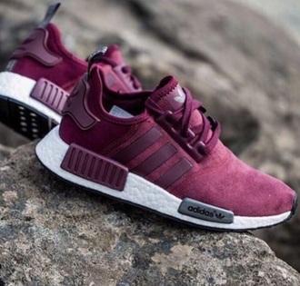 shoes burgundy adidas