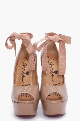 Lanvin Patent Leather Wedges for women   SSENSE