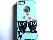 dress,custom case,otterbox,etsy sale,etsy,iphone cover,iphone case,iphone 5 case,iphone,glitter,owls,cute,pink,sale,sales