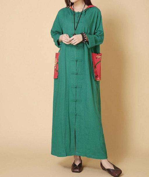 dress hooded maxi dress