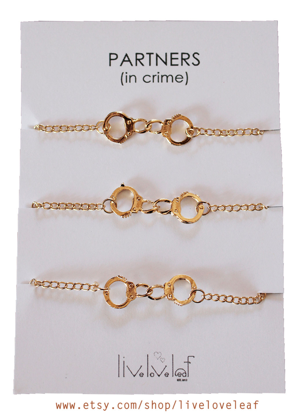 Partners In Crime Gold Bracelets December 2017