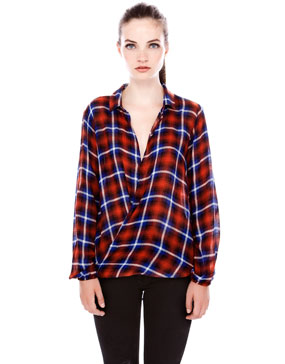 CHECK PRINT CROSSOVER SHIRT - BLOUSES AND SHIRTS - WOMAN -  PULL&BEAR United Kingdom