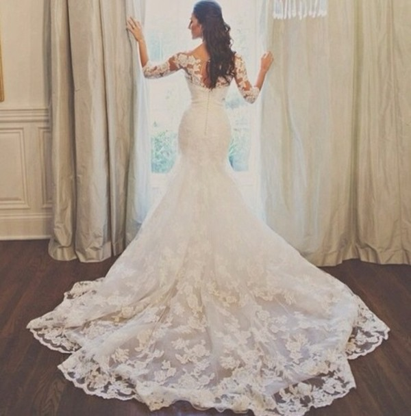 dress lace dress wedding clothes wedding dress lace wedding dress dress