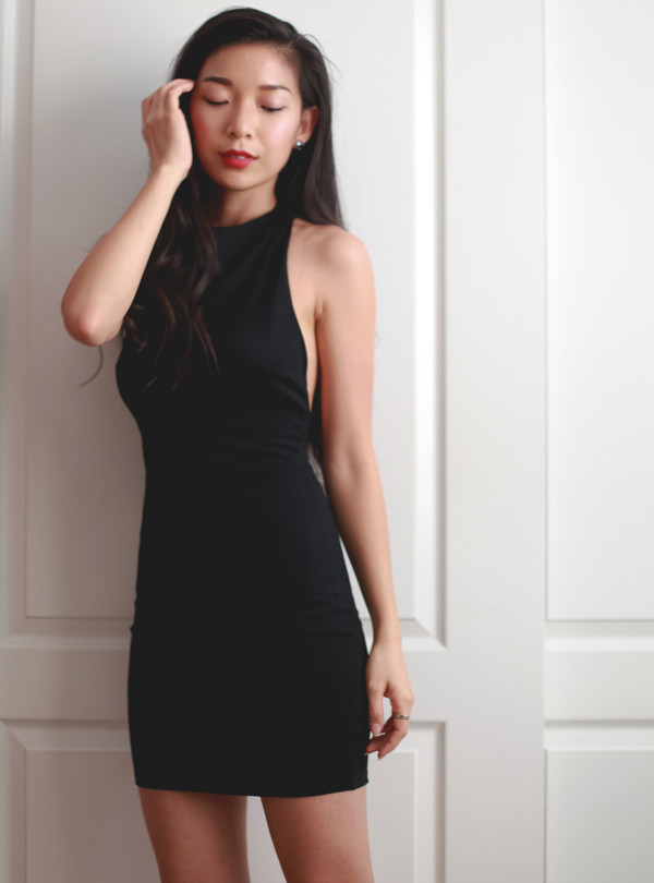 dress mini dress bodycon dress cut-out dress fashion blogger little black dress