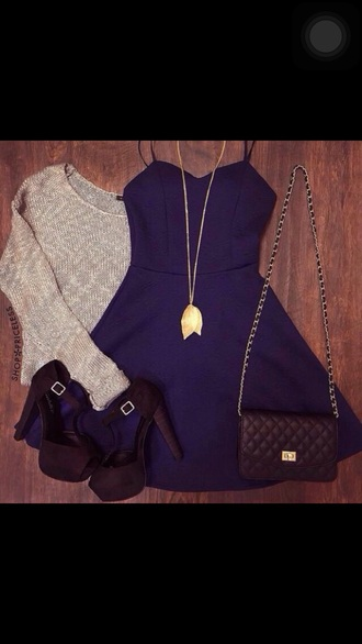 bag black black bag fashion dress