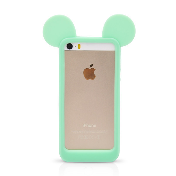 Fashion 3D Mickey Mouse Ears Silicon Frame Bumper for iPhone 5G 5 5S Soft Rubber Lovely Cartoon Phone Cases Cover-in Phone Bags & Cases from Phones & Telecommunications on Aliexpress.com | Alibaba Group