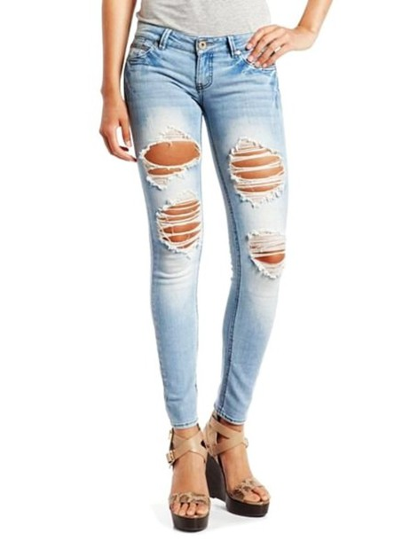 Excellent Ripped Skinny Jeans Women Ripped Denim Pants