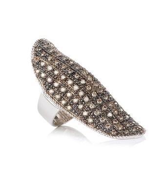 diamonds ring gold white champagne metallic jewels