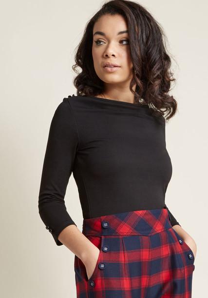 Modcloth top black knit