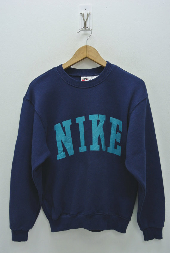 0a677841f0d66 Nike Sweatshirt Men XS Women Medium Vintage 90s Nike Pullover Vintage Nike  Crewneck Nike Spell Out Sweater