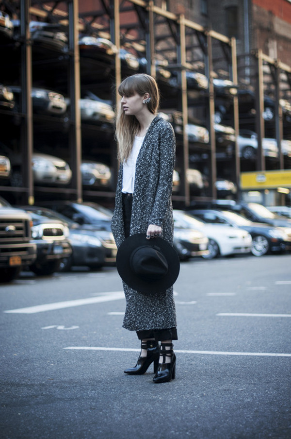 just another me shoes sweater coat jeans t-shirt hat jewels bag