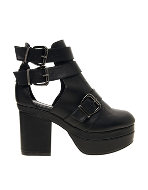 ASOS | ASOS AGAINST THE CLOCK Cut Out Ankle Boots at ASOS