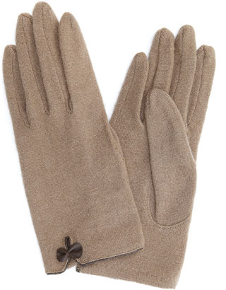 Wool Glove with Bow and Vent | Grey | Accessorize