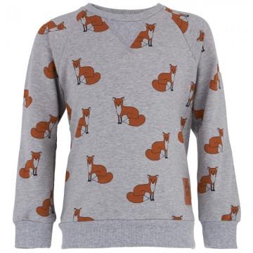 Mini Rodini Girls Fox Print Sweater | AlexandAlexa