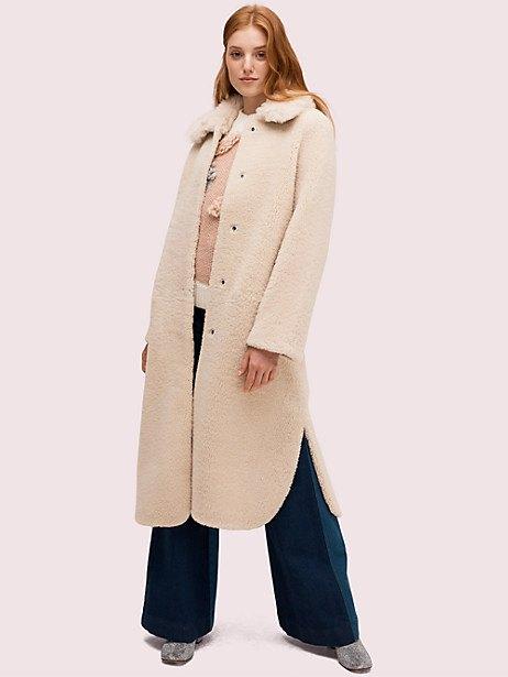 fur collar shearling coat