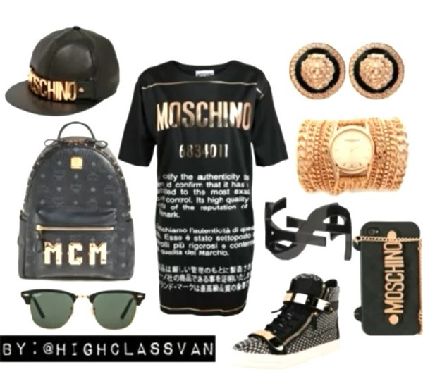 moschino bag jewels shoes