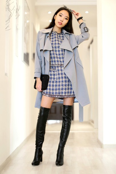 aibina's blog blogger coat dress jewels sunglasses shoes bag