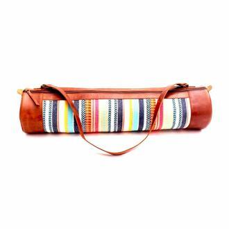 bag leather print vagabond goods yoga bag bikiniluxe