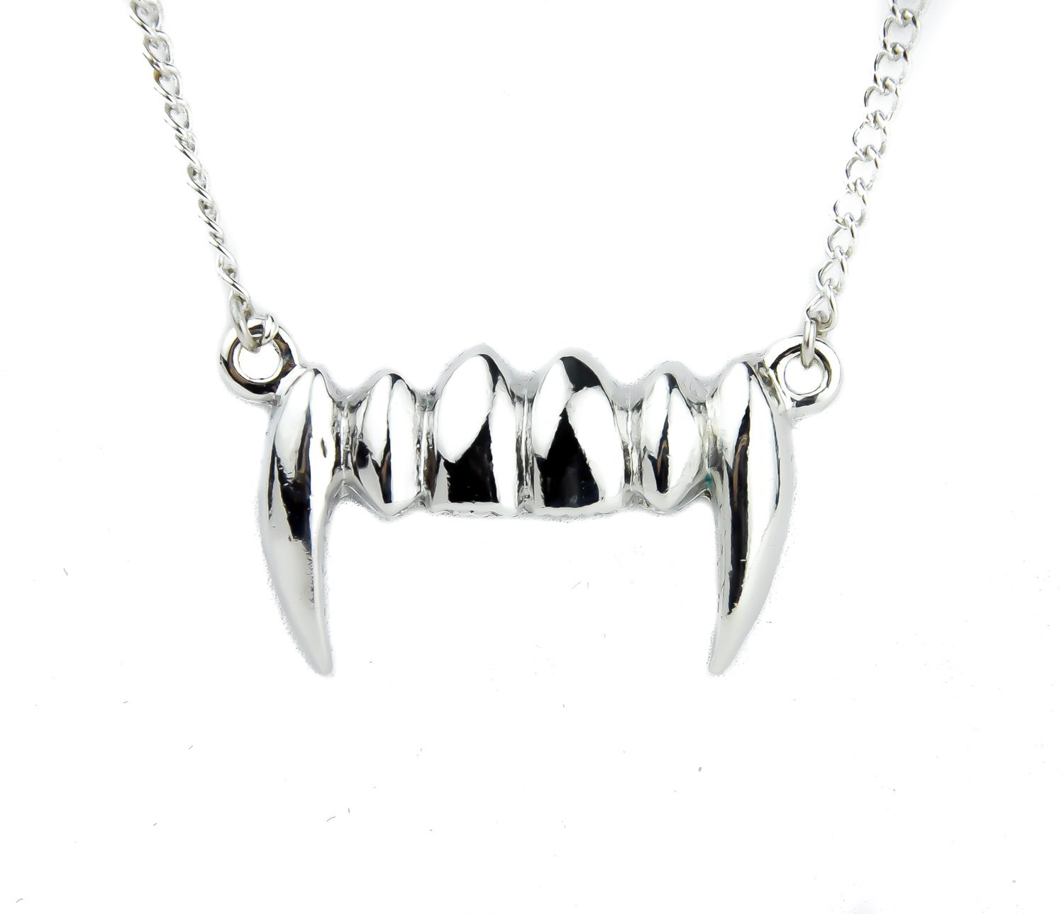 Amazon.com: Vampire Fang Necklace Bite Me Halloween Pendant: Jewelry