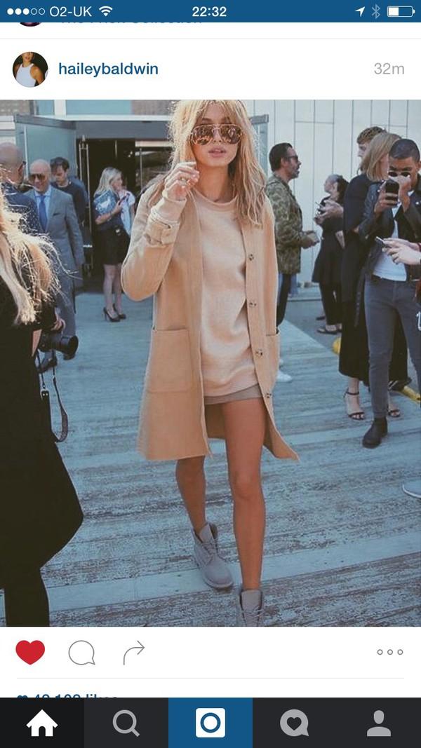 Khaki Lapel Long Sleeve Loose Sweater Coat | victoriaswing