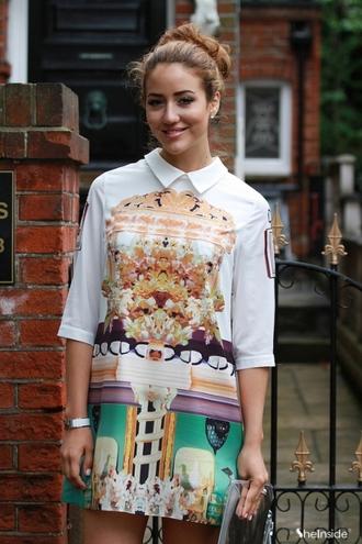 dress vingtage bloggers fashion versace print mini dress summer dress cute fun patterned dress dope chic