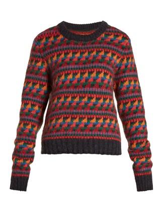 sweater geometric wool