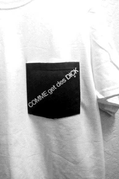 t-shirt black comme get des dick pocket t shirt streetwear