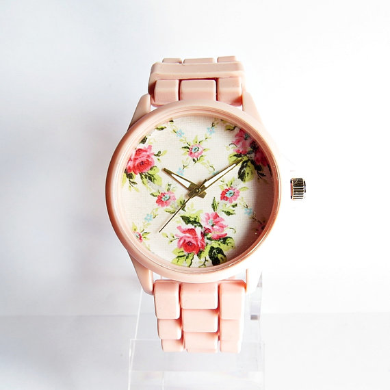 Pretty in Pink Spring Floral Watch Women Watches by FreeForme