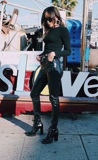 pants top all black everything ashley madekwe blogger instagram
