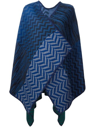 cape chevron blue top